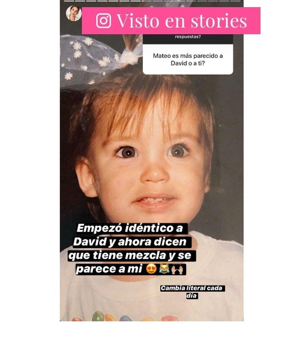 Rosanna Zanetti compara a Matteo con una imagen suya de pequeña