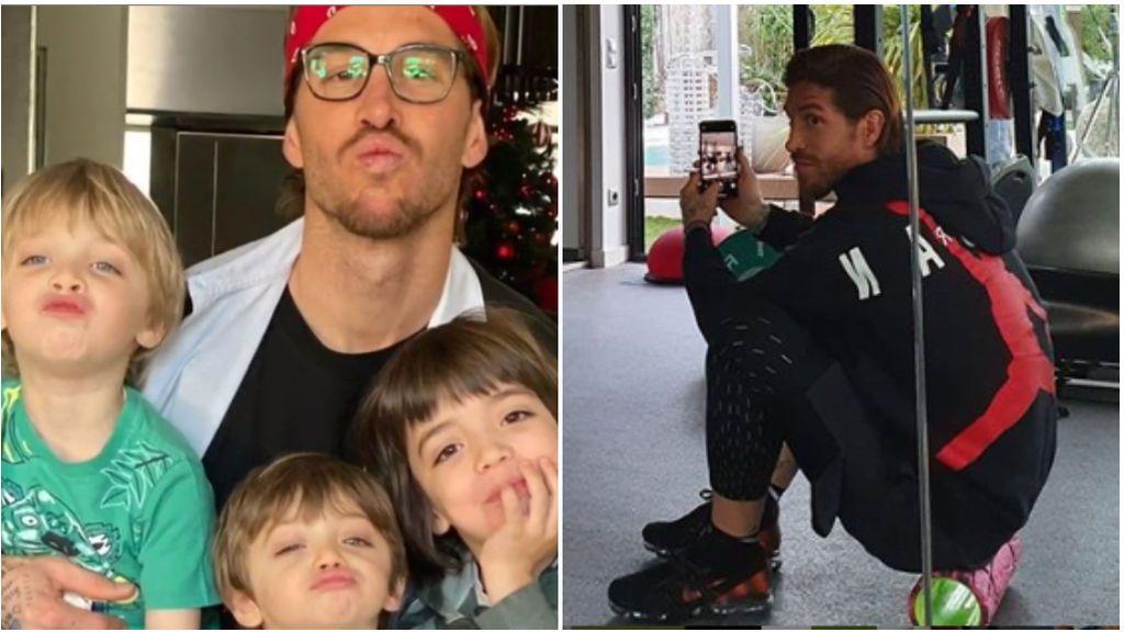 """Sergio Ramos se emociona con el vídeo de felicitación de sus hijos por el Día del Padre: """"Papá es moreno y rubio"""""""