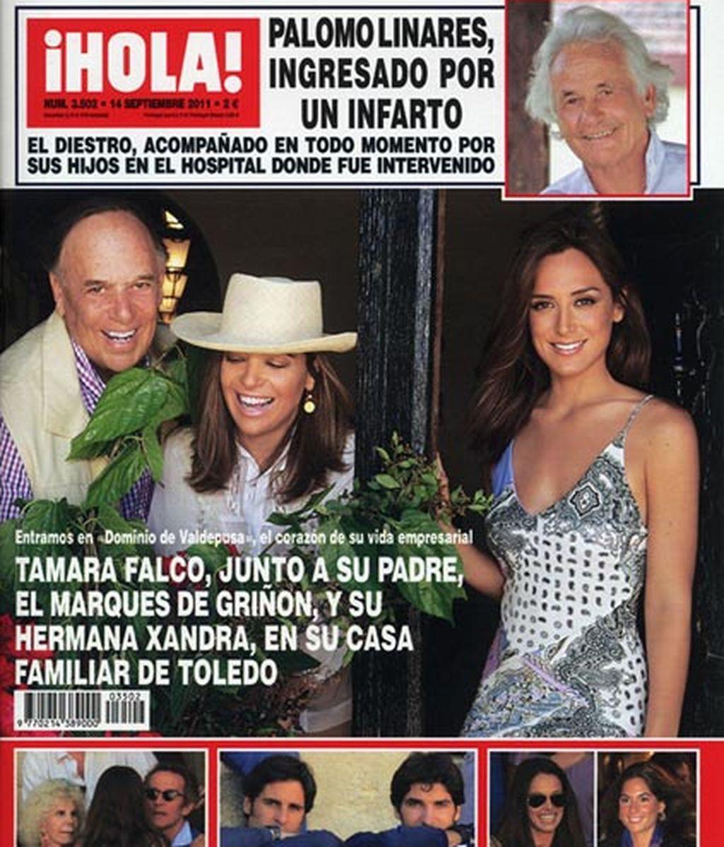 Tamara Falcó y su padre, en la portada de ¡Hola!