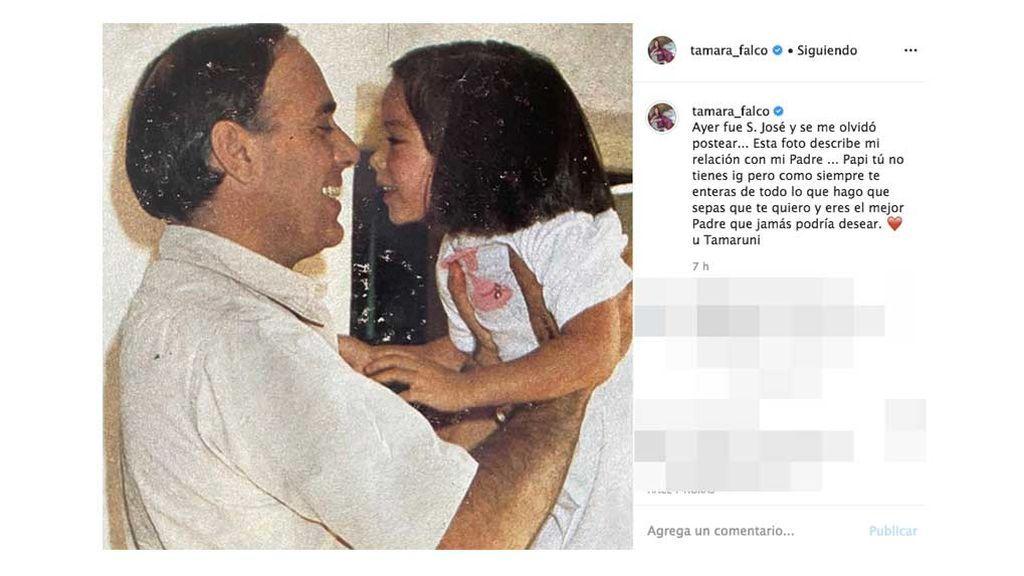 La felicitación de Tamara a su padre por el Día del Padre