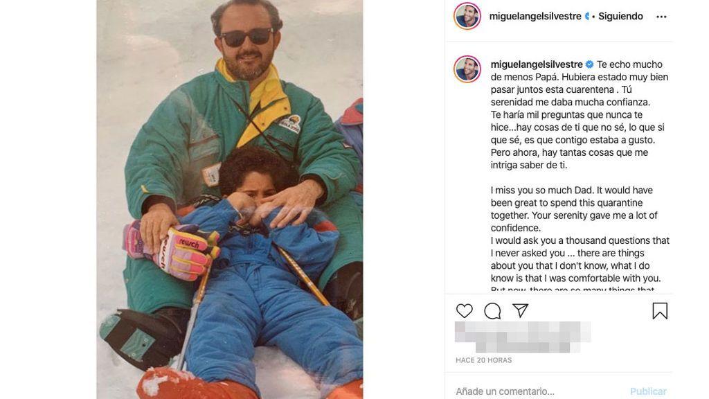 Miguel Ángel Silvestre recuerda a su padre
