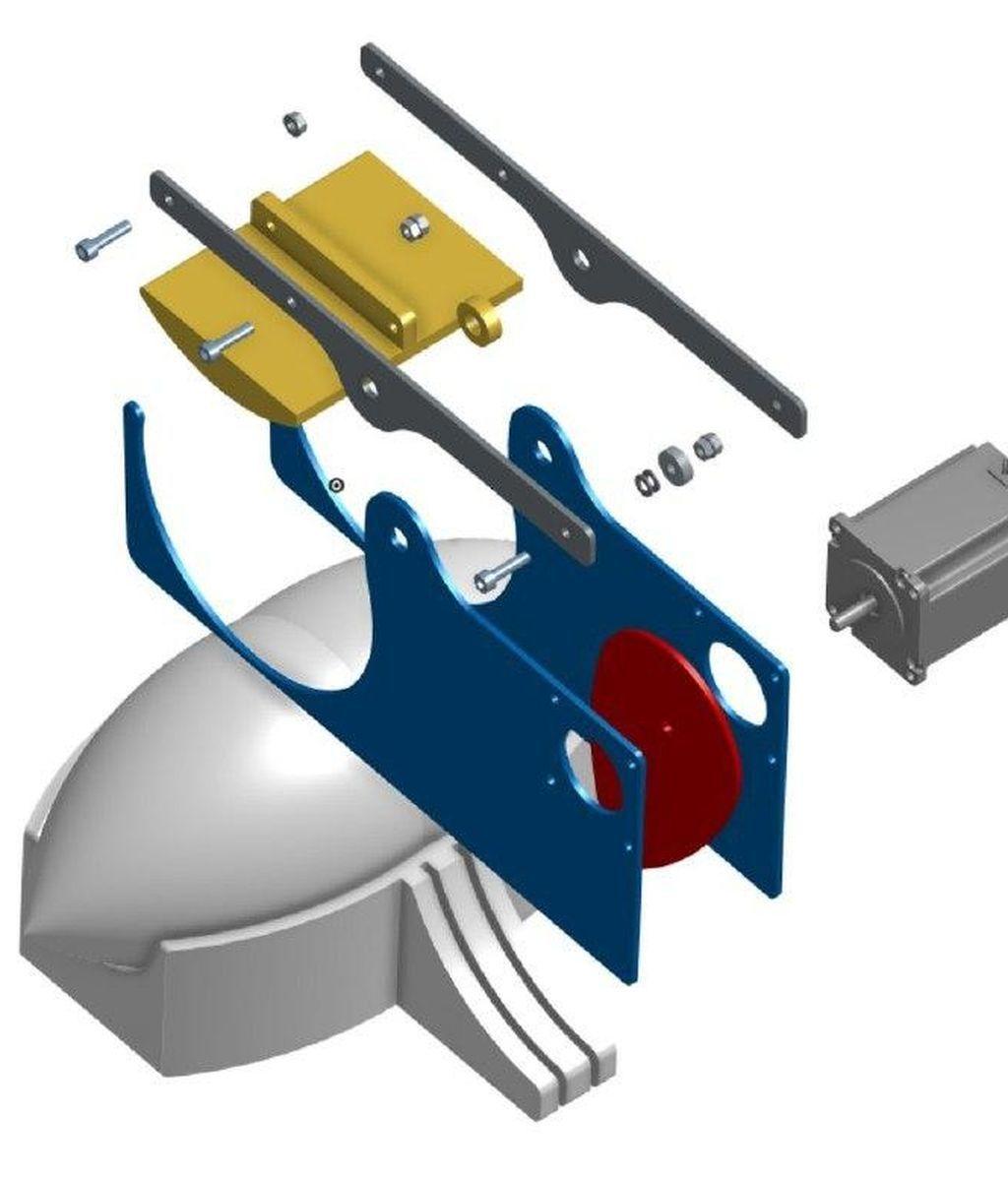 Sistema Resistencia en detalle del respirador en 3d