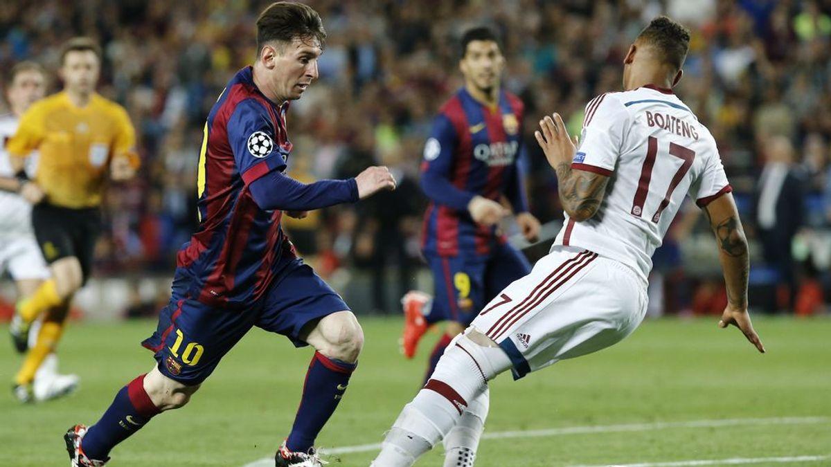 """El Barça compara el regate de Messi a Boateng, con las medidas para frenar el coronavirus: """"Recuerda mantener un metro de distancia"""""""