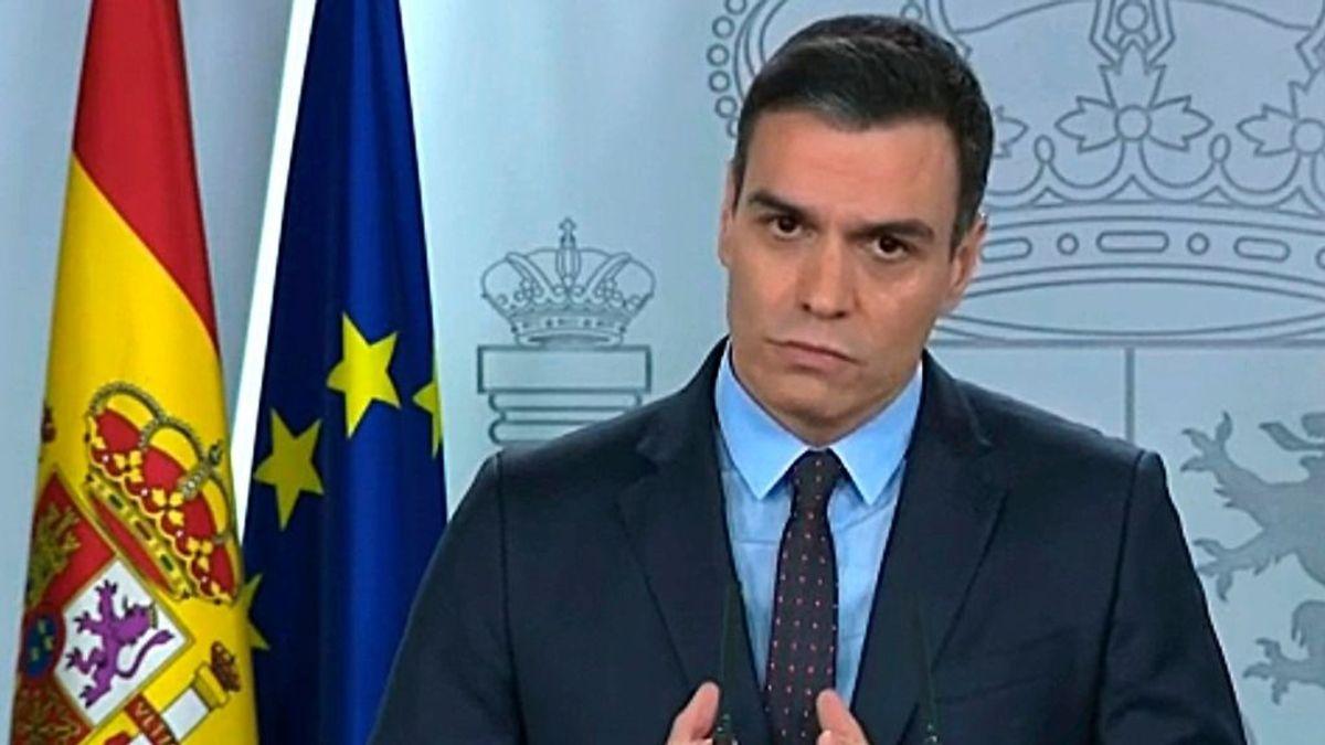 """Pedro Sánchez advierte de que """"vienen días muy duros"""" pero que """"tenemos que ganar tiempo"""" ante el coronavirus"""