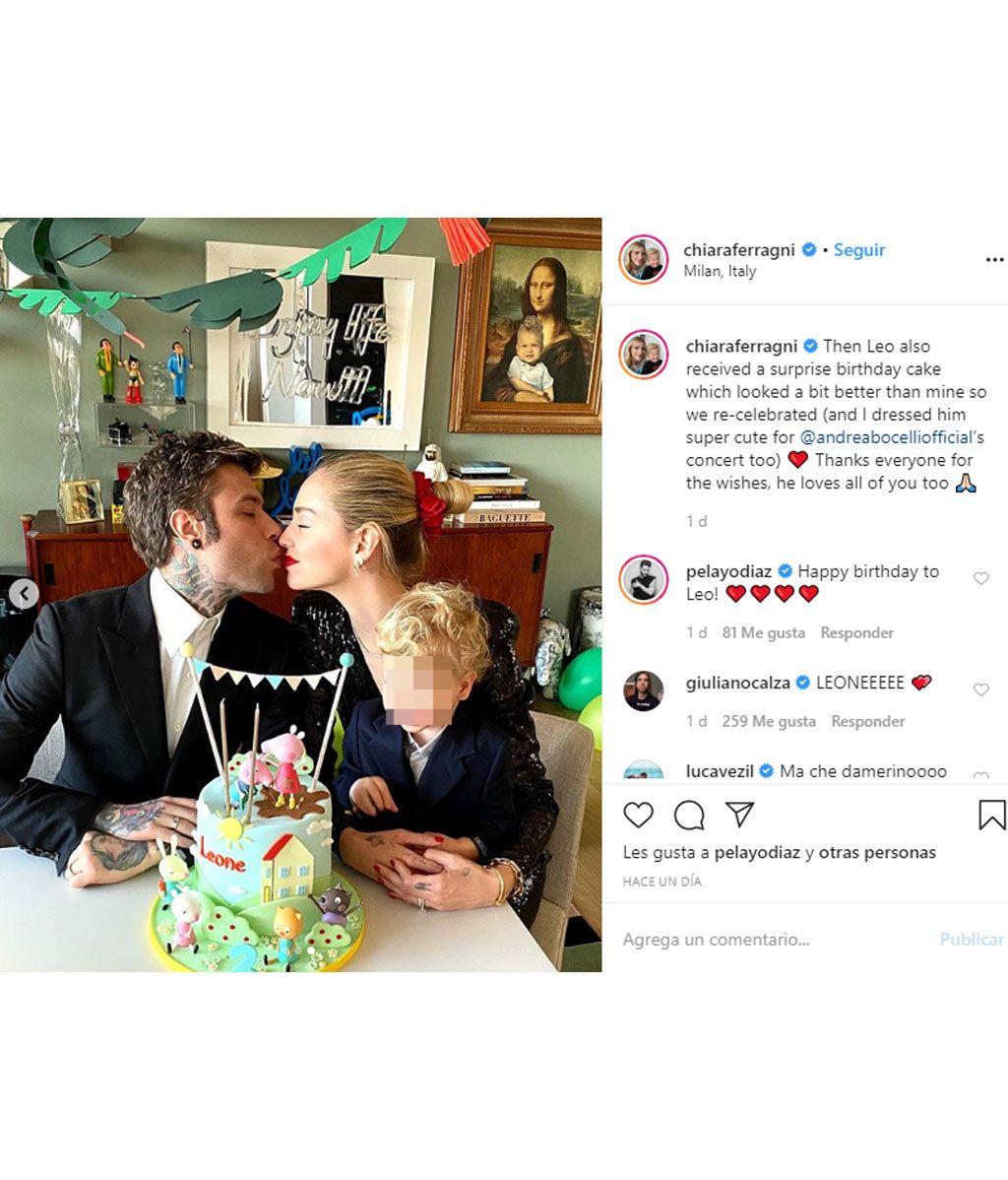 Chiara Ferragni celebra el cumpleaños de su hijo en casa durante la cuarentena