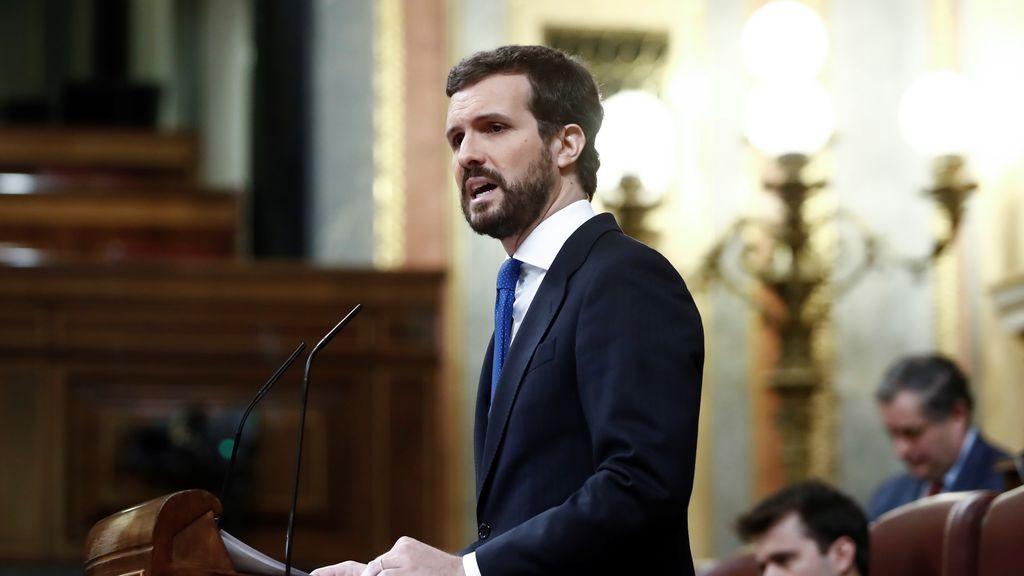 Casado anuncia que el PP apoyará la prórroga del estado de alarma