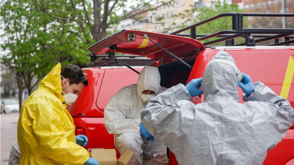La UME multiplica la capacidad de desinfección en un vehículo con un cañón de nieve