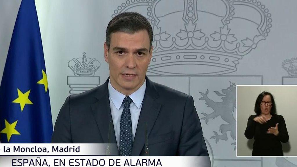 """Pedro Sánchez: """"Encerrarse en casa no está pensado para restar libertad, sino para salvar la vida"""""""