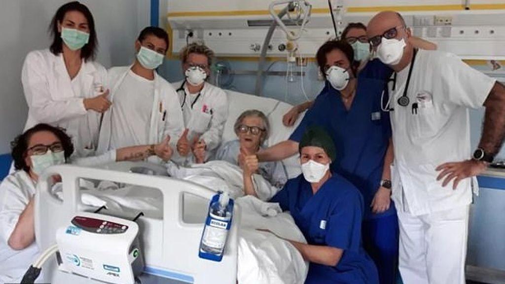 La abuela de la esperanza en Italia: supera el coronavirus con 95 años