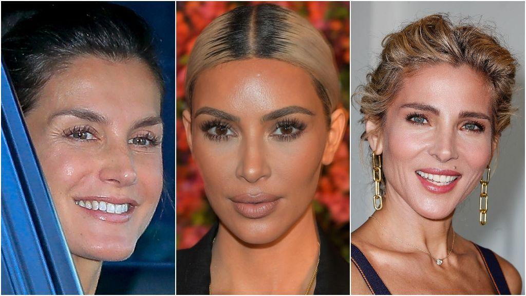La reina Letizia, Kim Kardashian y Elsa Pataky utilizan extensiones de pestañas.