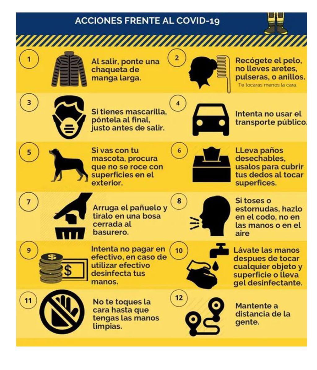 Medidas para salir seguros de casa