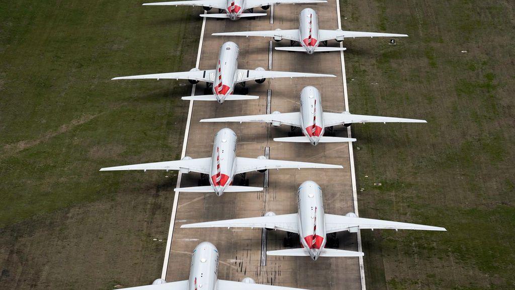 Problemas de espacio para aparcar tanto avión en tierra por el coronavirus