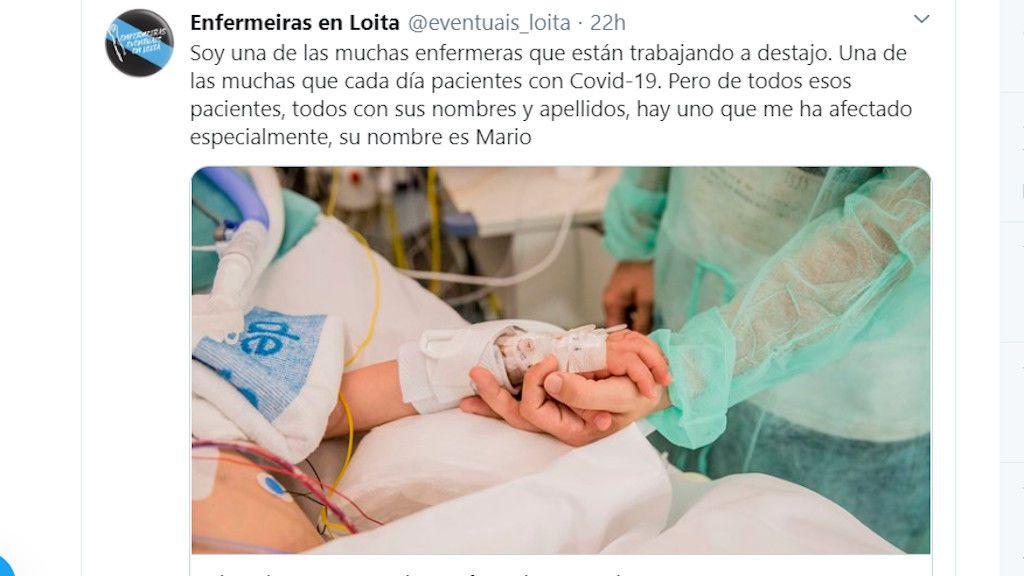"""""""Cinco horas con Mario"""", el relato de una enfermera despidiéndose de su paciente"""