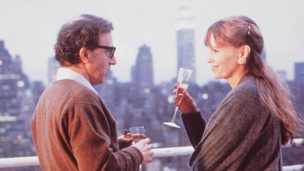 Woody Allen y Mia Farrow en 'Historias de Nueva York' (1989)