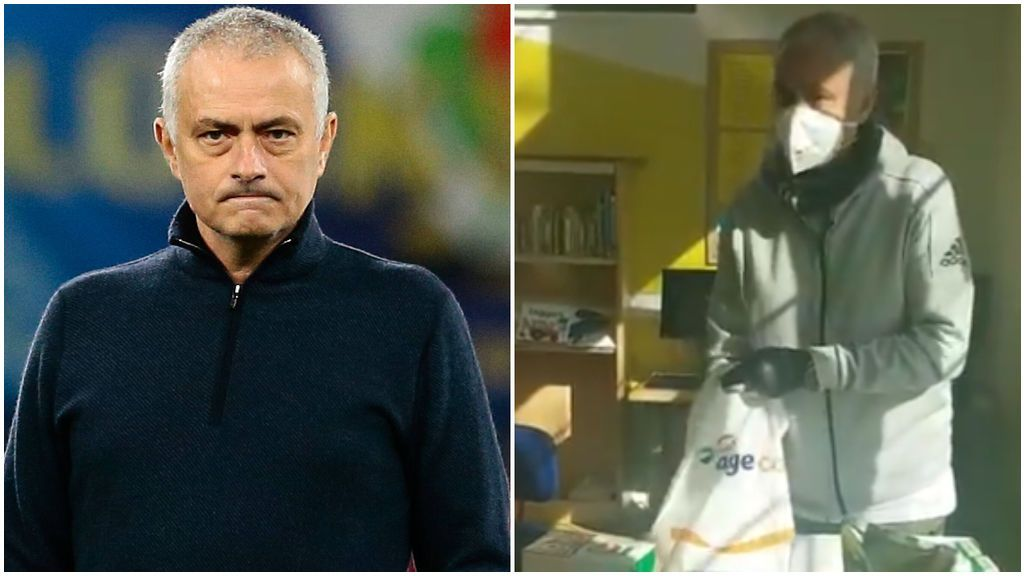 Mourinho ayuda a recoger comida en una residencia de ancianos de Londres en plena crisis por el coronavirus