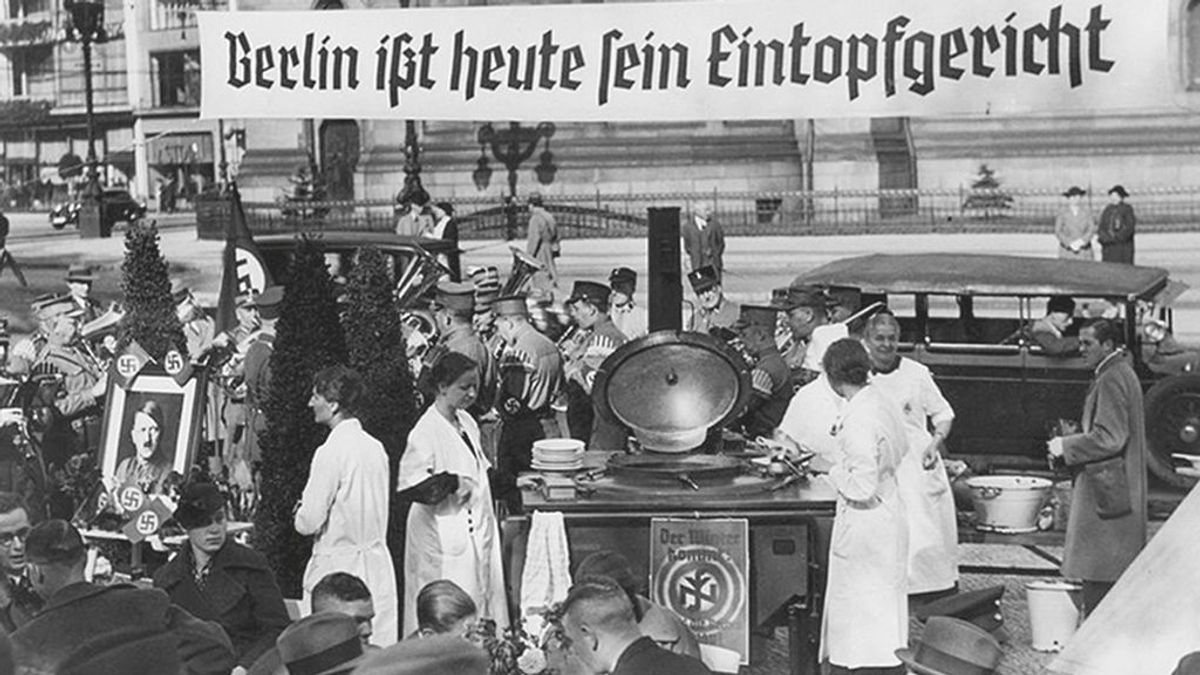Acción de propaganda nazi en Berlin, 1943.