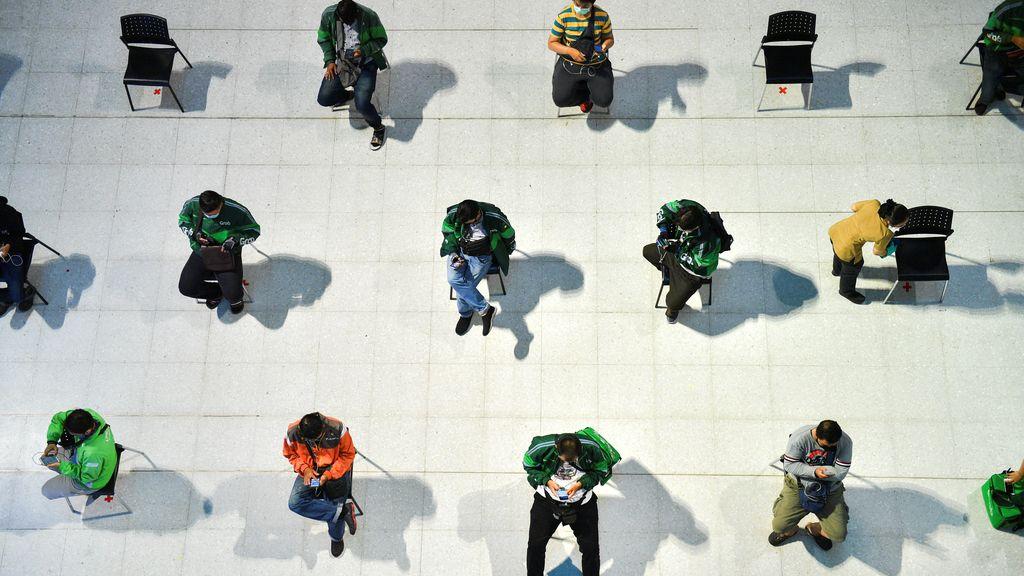 Las mejores imágenes de la distancia social que impera hoy en el mundo