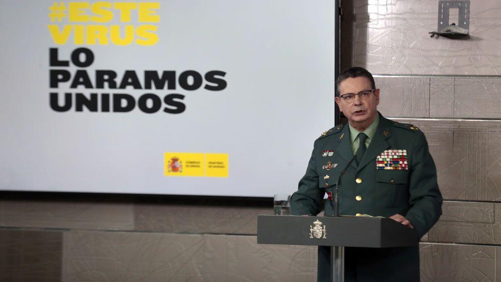 El número dos de la Guardia Civil, Laurentino Ceña, positivo en Covid-19