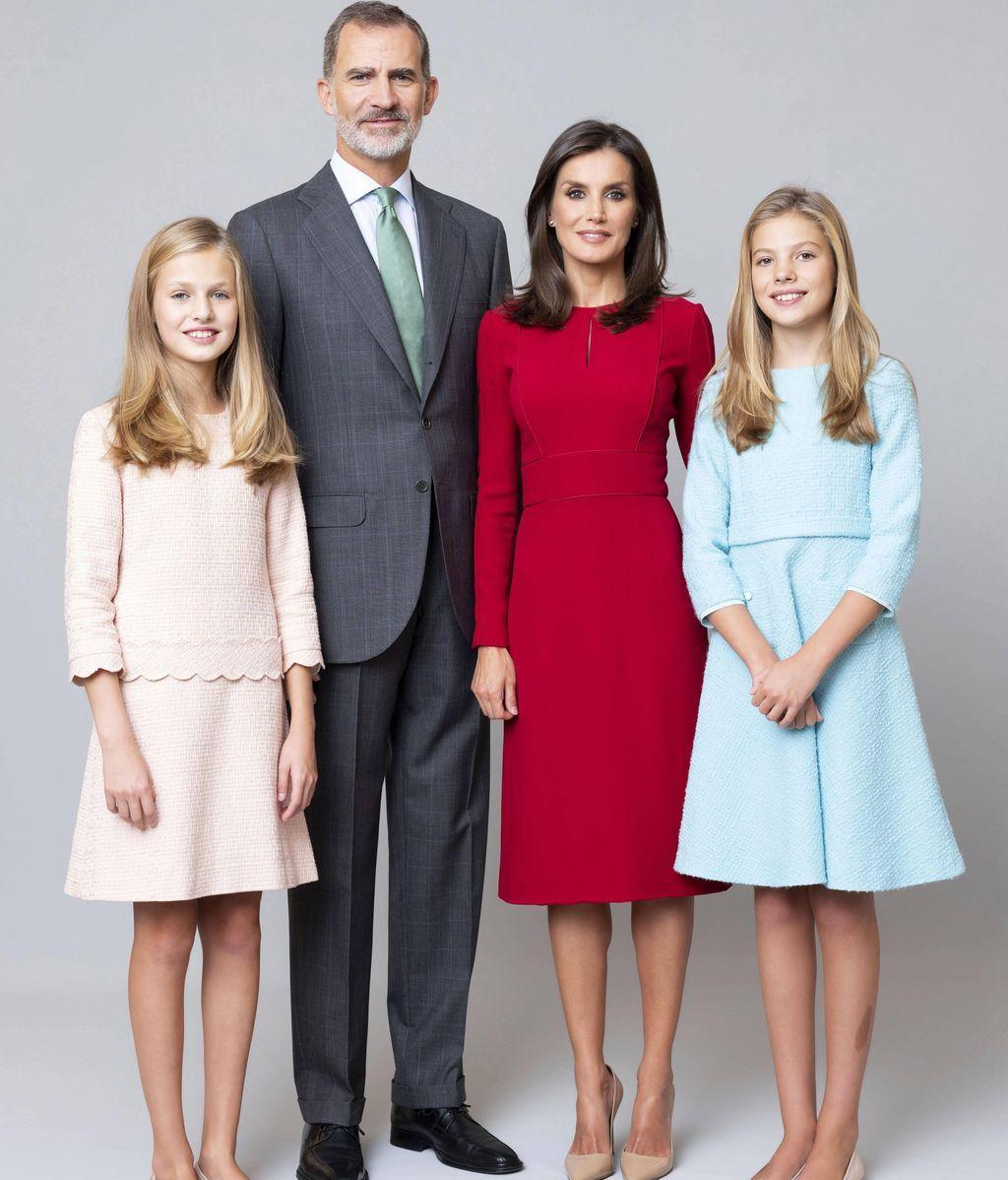 Foto oficial de la familia real