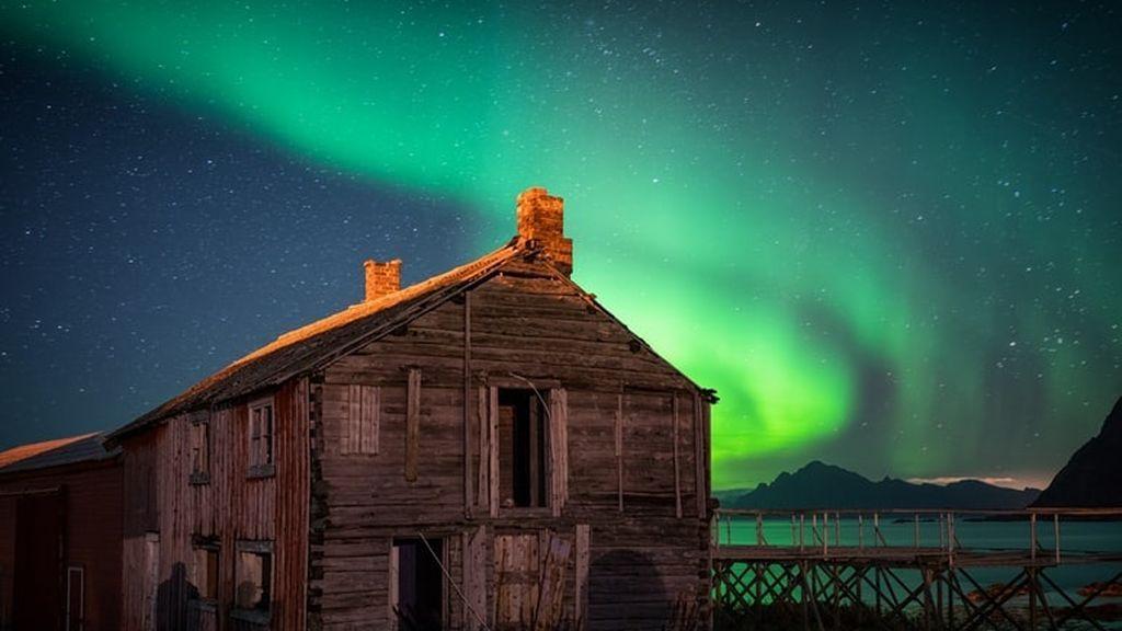 Aurora boreal vs austral: el Polo Sur también tiene su espectáculo particular