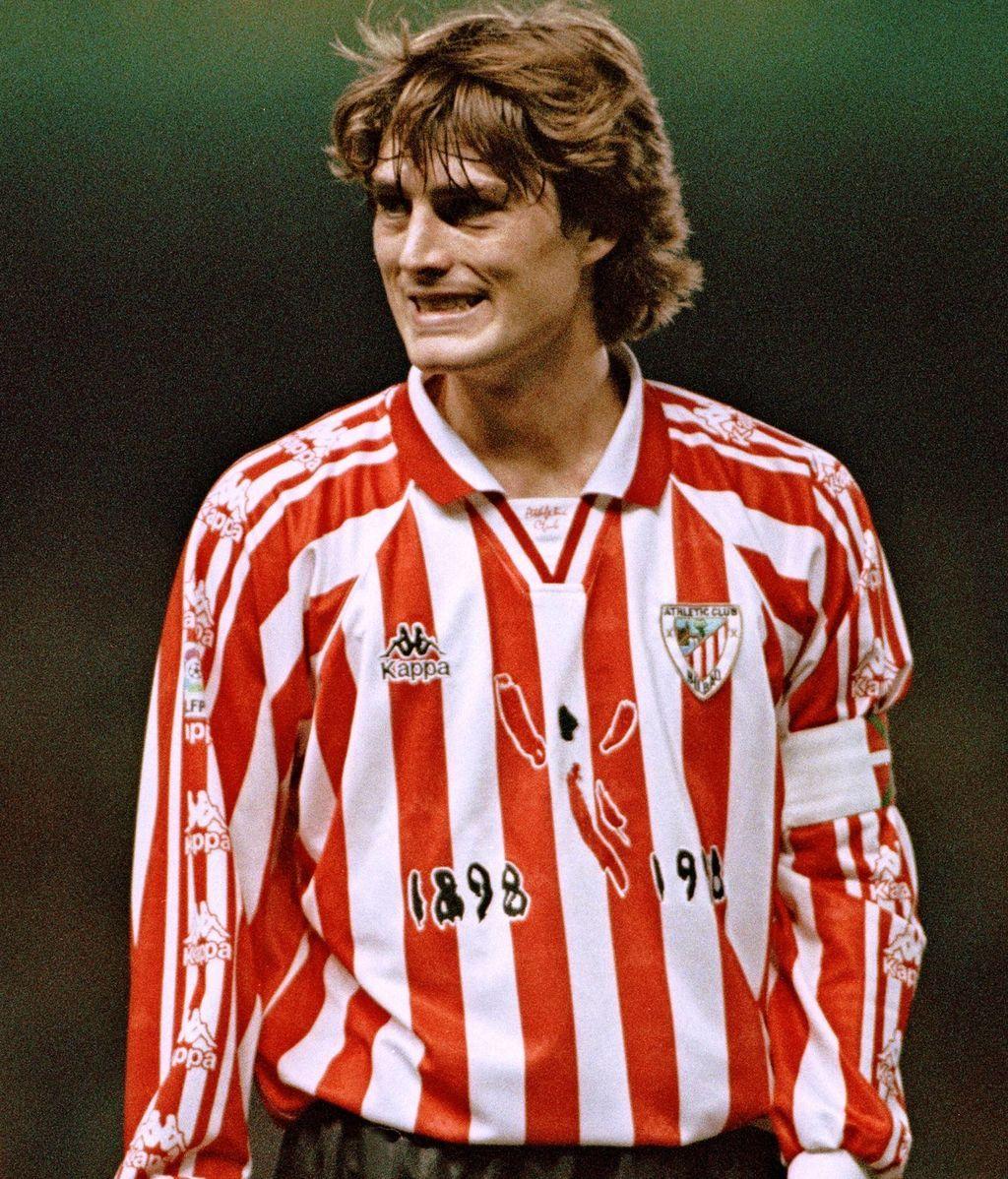 Julen Guerrero jugador formado en Lezama, cantera del Athletic de Bilbao
