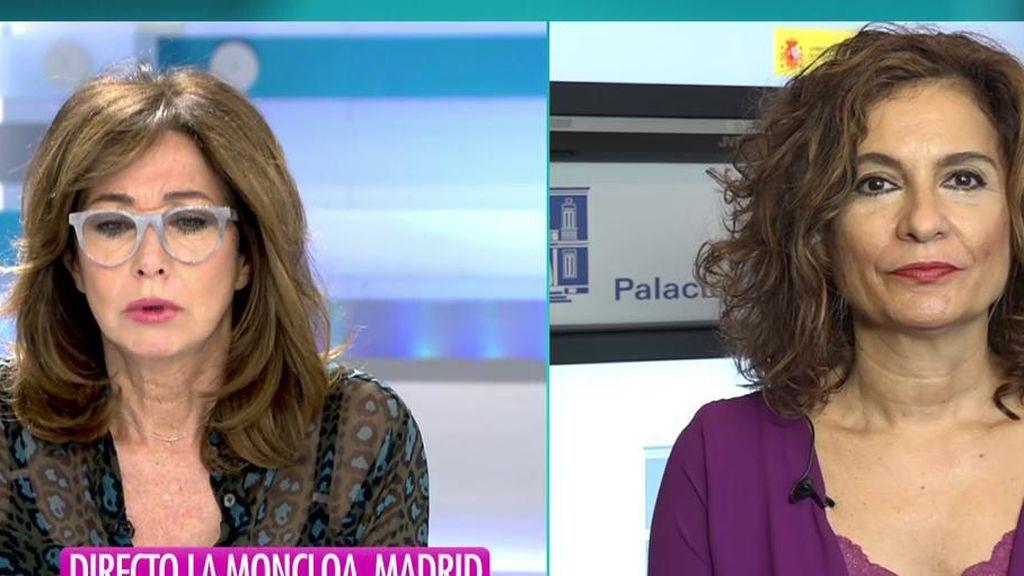 La entrevista completa a María Jesús Montero, Ministra de Hacienda, en 'El Programa de Ana Rosa'