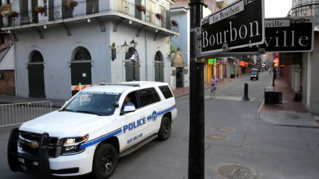Nueva Orleans patrullada por la Policía