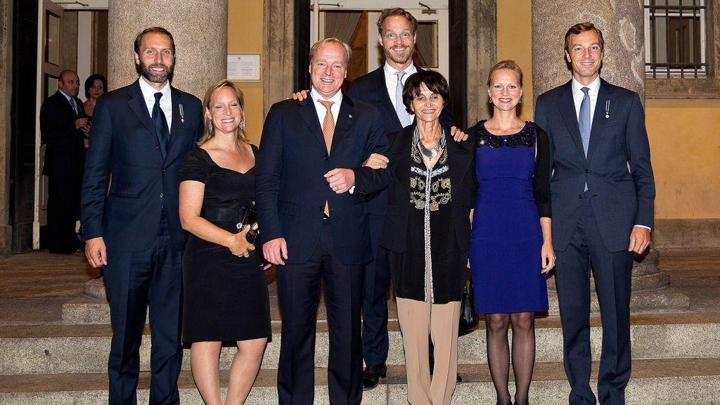 La familia de María Teresa de Borbón