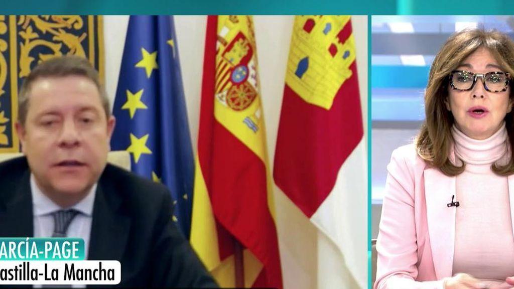 """Presidente de Castilla -La Mancha: """"Ayer mismo empezamos a extubar y a dar más altas que fallecimientos"""""""