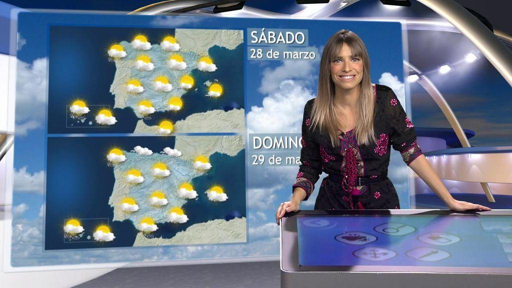 El norte y el Mediterráneo se cubren de nubes: el tiempo del fin de semana