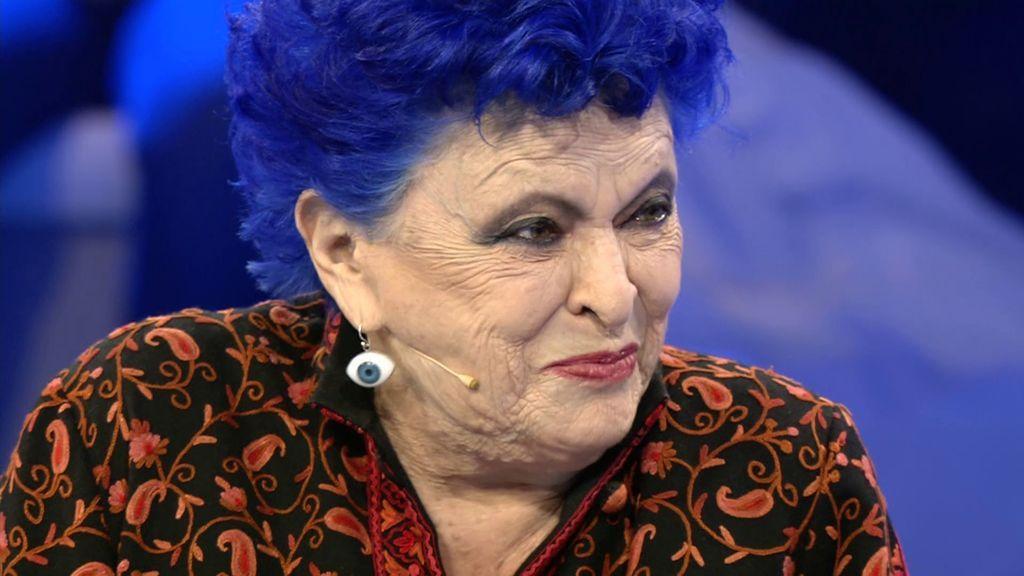El pelo azul de Lucía Bosé