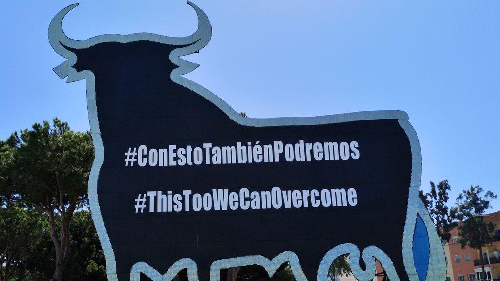 Un toro contra el coronavirus: Osborne rotula su icónico toro,  #ConEstoTambiénPodremos