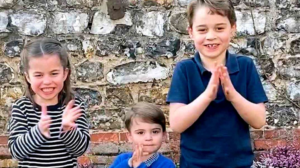 Los 'mini Royals' dan ejemplo: el aplauso de los hijos de Kate Middleton a los sanitarios del coronavirus