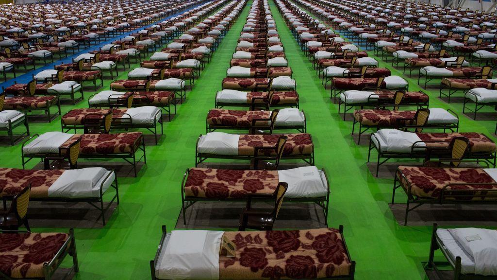 Hospital de campaña en Irán