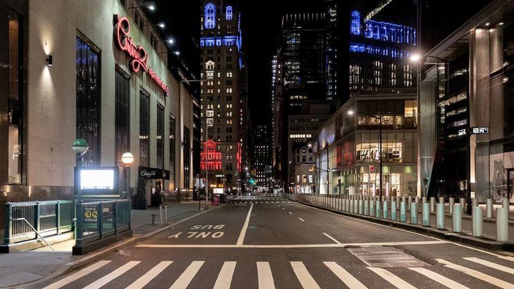 Las calles de Nueva York, vacías ante la pandemia por coronavirus