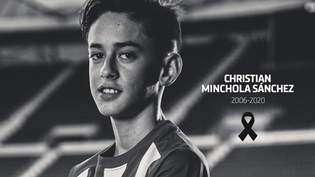 Fallece el canterano del Atlético de Madrid Christian Minchola a los 14 años