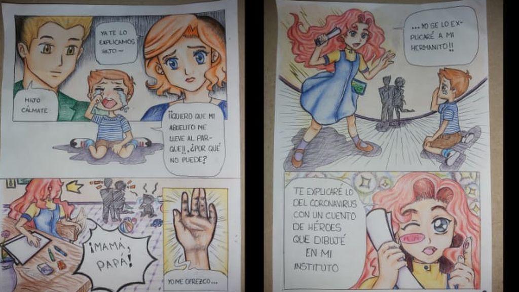 El cómic de Camila, de 12 años, sobre el coronavirus: pequeños superhéroes que cuidan de sus mayores