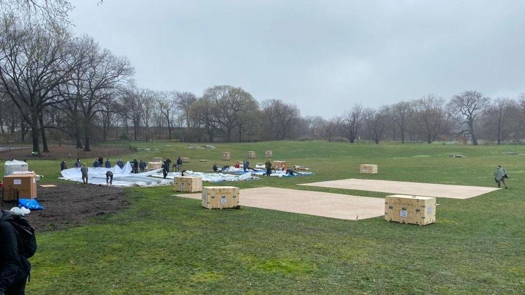 levantan un hospital de campaña en Central Park