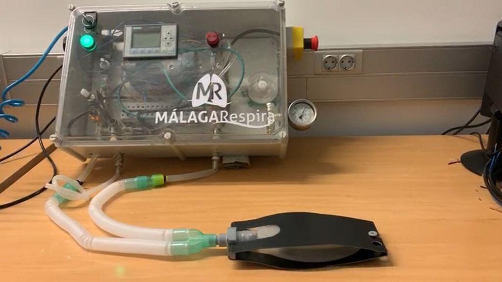 Respirador artificial desarrollado por ingenieros en Málaga.