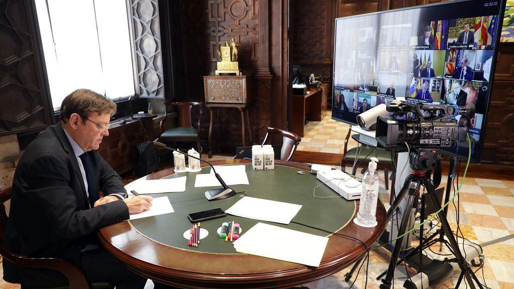 Videoconferencia de Puig con Sánchez