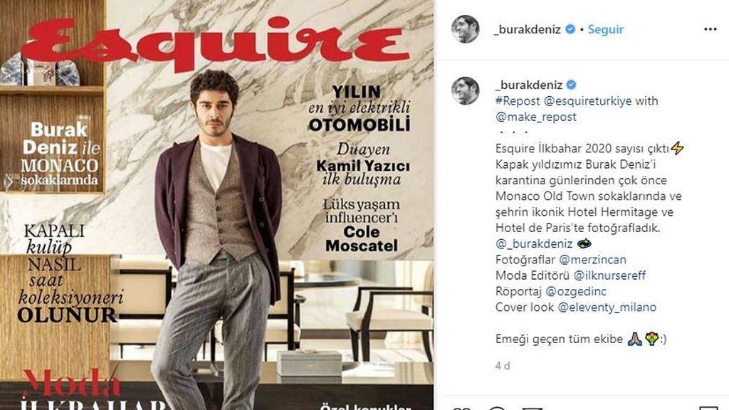 Burak Deniz en la portada de Esquire