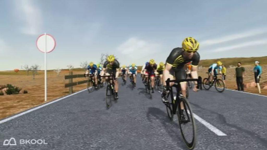 Carrera de e-Cycling del circuito belga de ciclismo