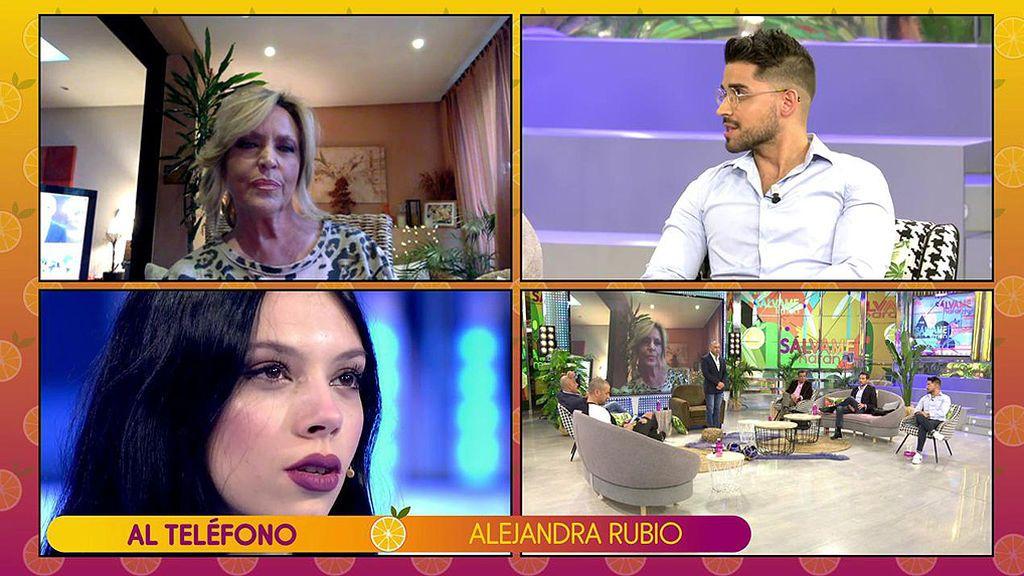 """Alejandra Rubio llamó a Lydia Lozano """"vieja de m…"""", la aludida estalla y Alejandra lo niega en directo"""