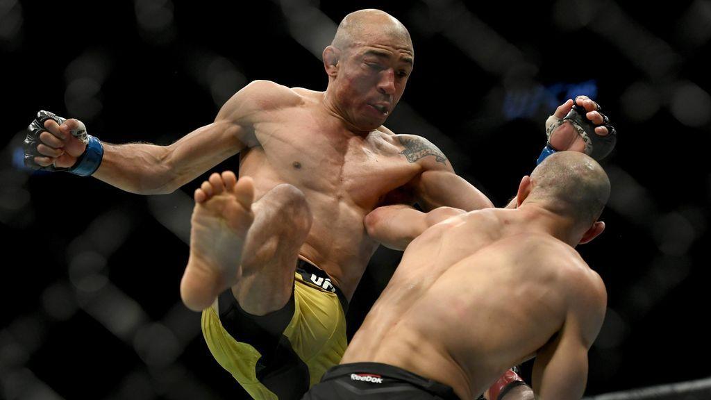 José Aldo en un combate de la UFC