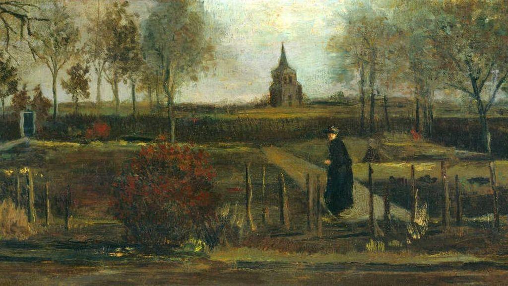 El lienzo es 'Spring Garden' (Jardín de Primavera)