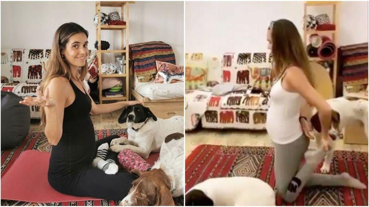 Las rutinas de Ona Carbonell para cuidar su embarazo durante la cuarentena: gimnasia y ejercicios en casa