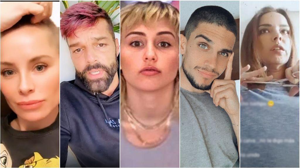 Cuarentena Total Look: Los famosos se han convertido en sus propios peluqueros