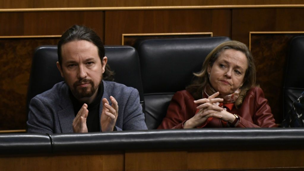 Iglesias y Calviño comparecen con Montero tras el Consejo de Ministros