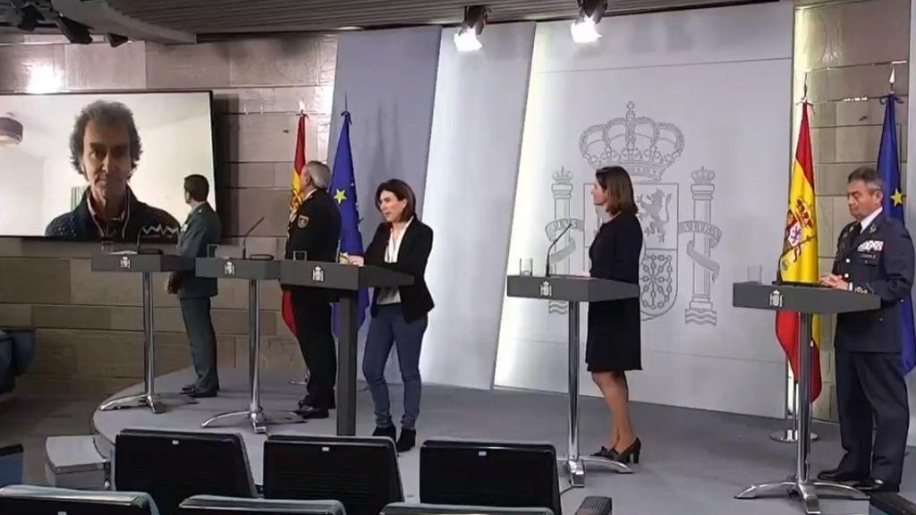 """Fernando Simón interviene en la rueda de prensa a través de una videollamada: """"Me encuentro bien"""""""