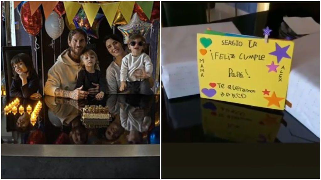 """Sergio Ramos celebra su 34 cumpleaños rodeado de su familia en cuarentena: """"Ahora los regalos"""""""